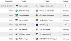 Kreisliga A Spieltag