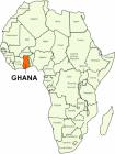 Afrika Ghana Karte